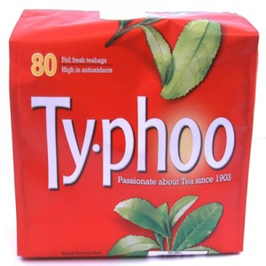 A box of Typhoo Tea.